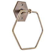 Antique Bronze Hexagon Metal Towel Ring